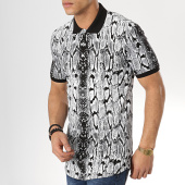 /achat-polos-manches-courtes/ikao-polo-manches-courtes-oversize-f468-noir-blanc-serpent-173709.html