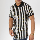 /achat-polos-manches-courtes/ikao-polo-manches-courtes-f492-noir-blanc-jaune-173744.html