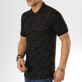 /achat-polos-manches-courtes/ikao-polo-manches-courtes-oversize-f469-noir-leopard-173761.html