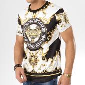 /achat-t-shirts-longs-oversize/aarhon-tee-shirt-91126-blanc-renaissance-noir-174143.html