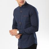/achat-chemises-manches-longues/classic-series-chemise-manches-longues-3385-bleu-marine-marron-174076.html