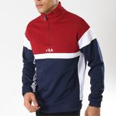 /achat-sweats-col-zippe/fila-sweat-col-zippe-herron-682356-bleu-marine-bordeaux-blanc-173978.html