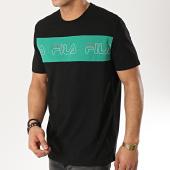 /achat-t-shirts/fila-tee-shirt-aki-logo-687129-noir-vert-174093.html