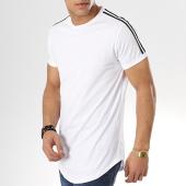 /achat-t-shirts-longs-oversize/mtx-tee-shirt-oversize-avec-bandes-tm0056-blanc-173887.html