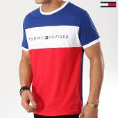 /achat-t-shirts/tommy-hilfiger-jeans-tee-shirt-logo-flag-1170-rouge-blanc-bleu-marine-173895.html