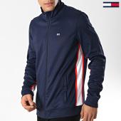/achat-vestes/tommy-hilfiger-jeans-veste-zippee-track-6055-bleu-marine-blanc-rouge-173934.html
