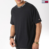 /achat-t-shirts/tommy-hilfiger-jeans-tee-shirt-heather-branded-collar-6062-noir-173951.html