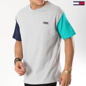 /achat-t-shirts/tommy-hilfiger-jeans-tee-shirt-color-block-6075-gris-chine-173954.html