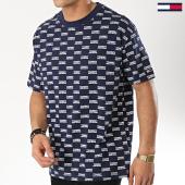 /achat-t-shirts/tommy-hilfiger-jeans-tee-shirt-corporate-logo-6085-bleu-marine-173955.html