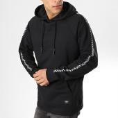 /achat-sweats-capuche/vans-sweat-capuche-avec-bandes-taped-checker-vn0a3w3c-noir-blanc-173894.html