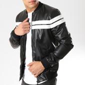 /achat-vestes/classic-series-veste-zippee-avec-bandes-m4004-noir-blanc-174233.html