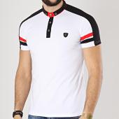 /achat-polos-manches-courtes/classic-series-polo-manches-courtes-a-bandes-8751-blanc-noir-rouge-174429.html