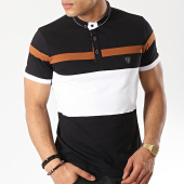 /achat-polos-manches-courtes/classic-series-polo-manches-courtes-8742-blanc-noir-marron-174465.html