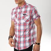 /achat-chemises-manches-courtes/deeluxe-chemise-manches-courtes-a-carreaux-s19404-rouge-blanc-bleu-marine-174237.html