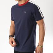 /achat-t-shirts/fila-tee-shirt-avec-bandes-salus-687010-bleu-marine-ecru-174197.html