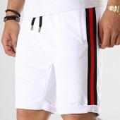 /achat-shorts-jogging/lbo-short-jogging-avec-bandes-noir-rouge-653-blanc-174485.html
