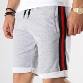 /achat-shorts-jogging/lbo-short-jogging-avec-bandes-noir-rouge-654-gris-chine-174486.html