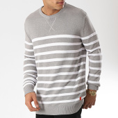 /achat-pulls/mz72-pull-astripe-gris-chine-blanc-174169.html