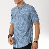 /achat-chemises-manches-courtes/mz72-chemise-manches-courtes-clyde-bleu-clair-floral-174222.html