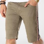 /achat-shorts-jean/mz72-short-jean-a-bandes-fold-vert-kaki-174331.html