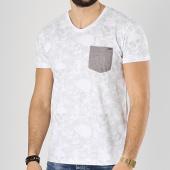 /achat-t-shirts-poche/mz72-tee-shirt-poche-trace-blanc-floral-174389.html