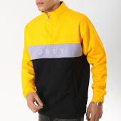 /achat-sweats-col-zippe/obey-sweat-col-zippe-chelsea-mock-noir-jaune-lilas-174204.html
