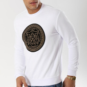 /achat-sweats-col-rond-crewneck/project-x-sweat-crewneck-1920017-blanc-noir-dore-174345.html