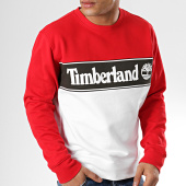 /achat-sweats-col-rond-crewneck/timberland-sweat-crewneck-cut-and-sew-a1o9u-rouge-blanc-noir-174484.html