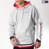 /achat-sweats-zippes-capuche/tommy-sport-sweat-zippe-capuche-logo-0084-gris-chine-174363.html