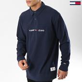 /achat-sweats-col-zippe/tommy-hilfiger-jeans-sweat-rugby-6038-bleu-marine-174364.html