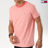 /achat-t-shirts/tommy-hilfiger-jeans-tee-shirt-contrast-6064-rouge-chine-174367.html