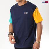 /achat-t-shirts/tommy-hilfiger-jeans-tee-shirt-color-block-6075-bleu-marine-174371.html