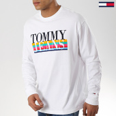 /achat-t-shirts-manches-longues/tommy-hilfiger-jeans-tee-shirt-manches-longues-multicolor-6092-blanc-174377.html