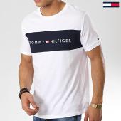 /achat-t-shirts/tommy-hilfiger-tee-shirt-logo-flag-1170-blanc-bleu-marine-174422.html