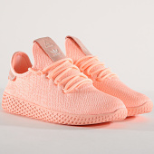 /achat-baskets-basses/adidas-baskets-femme-tennis-hu-pharrell-williams-d96551-clear-orange-174676.html