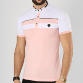 /achat-polos-manches-courtes/classic-series-polo-manches-courtes-8731-blanc-rose-174491.html