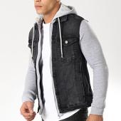 /achat-vestes-jean/classic-series-veste-jean-3024-noir-gris-chine-174805.html
