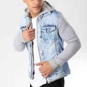 /achat-vestes-jean/classic-series-veste-jean-3024-bleu-wash-gris-chine-174808.html