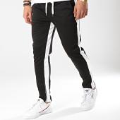 /achat-pantalons-joggings/frilivin-pantalon-jogging-a-bandes-1563-noir-blanc-174524.html