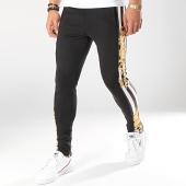 /achat-pantalons-joggings/gianni-kavanagh-pantalon-jogging-a-bandes-baroque-and-stripes-noir-blanc-jaune-renaissance-174737.html