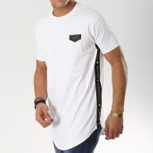 /achat-t-shirts-longs-oversize/gianni-kavanagh-tee-shirt-oversize-a-bandes-gold-gk-ribbon-blanc-noir-dore-174754.html