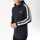 /achat-vestes/gianni-kavanagh-veste-zippee-capuche-gold-lurex-ribbon-bleu-marine-blanc-noir-dore-174762.html