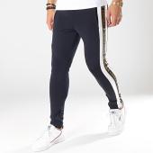 /achat-pantalons-joggings/gianni-kavanagh-pantalon-jogging-a-bandes-gold-lurex-ribbon-bleu-marine-blanc-noir-dore-174777.html