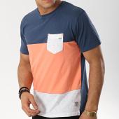 /achat-t-shirts-poche/mz72-tee-shirt-poche-taffy-bleu-marine-gris-chine-rose-174633.html