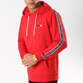 /achat-sweats-capuche/mz72-sweat-capuche-avec-bandes-jara-rouge-174641.html