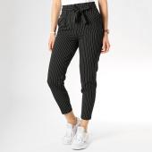 /achat-pantalons-carreaux/only-pantalon-raye-femme-nicole-noir-blanc-174646.html