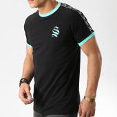 /achat-t-shirts/sinners-attire-tee-shirt-avec-bandes-tape-ringer-noir-vert-174741.html