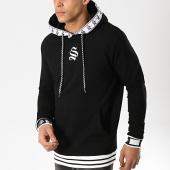 /achat-sweats-capuche/sinners-attire-sweat-capuche-avec-bandes-hypa-noir-blanc-174748.html