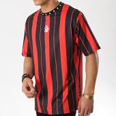 /achat-t-shirts-longs-oversize/sinners-attire-tee-shirt-oversize-stripes-930-noir-rouge-174767.html