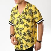 /achat-chemises-manches-courtes/sixth-june-chemise-manches-courtes-m3708vsh-jaune-noir-floral-174721.html